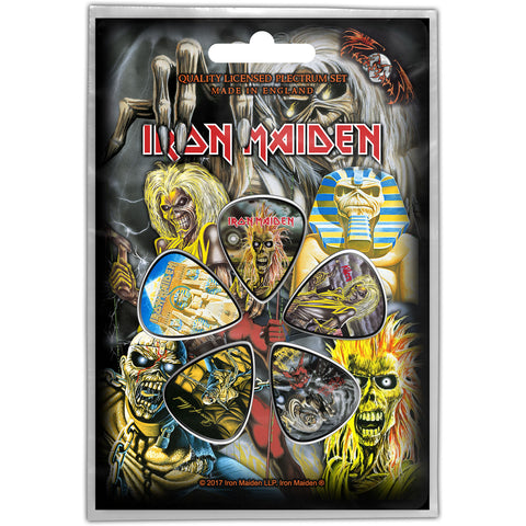 Iron Maiden - Guitar Pick Set - 5 Picks-Album Art-UK Import-Licensed New In Pack