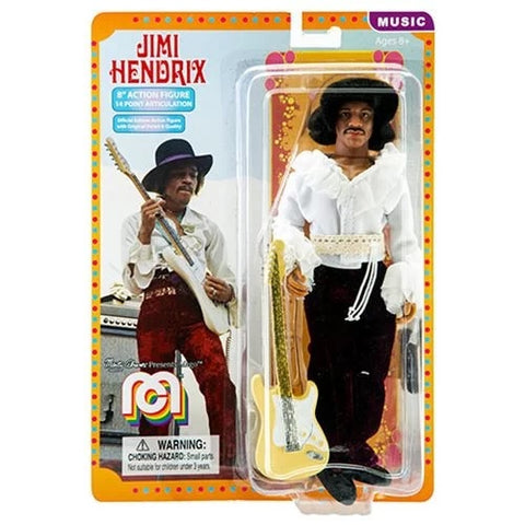 Jimi Hendrix-Action Figure-14 Point-W/Fender Guitar-2018-19-Licensed-New In Pack