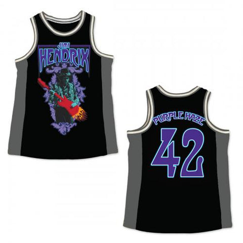 Jimi Hendrix - Purple Haze Basketball Jersey