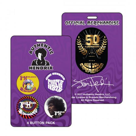 Jimi Hendrix - 50th Anniversary AYE Pinback Button Set