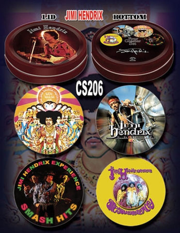 Jimi Hendrix - Coaster Set With Collector's Tin - Licensed New in Pack