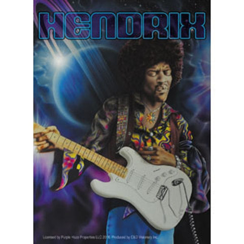 Jimi Hendrix - Sticker - Saturn Delta Neptune Planets With Guitar