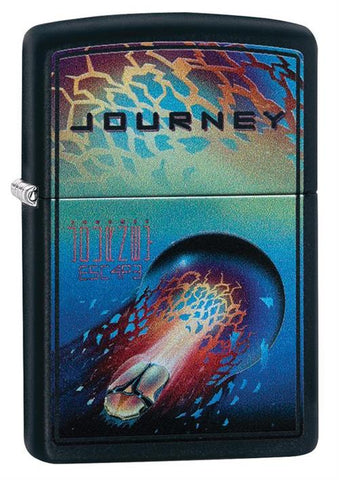 Journey - Black Matte - Flip Top - Zippo Lighter