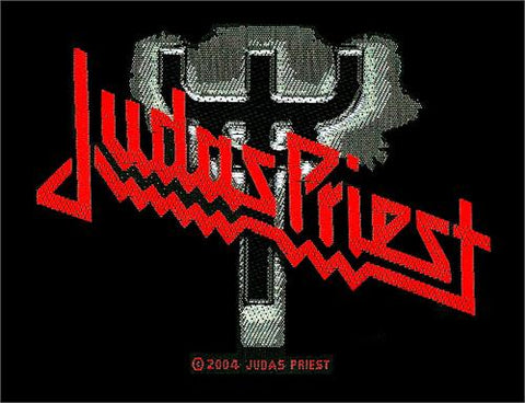 Judas Priest - Patch - Woven Import Sew On - Red Logo - Collector's