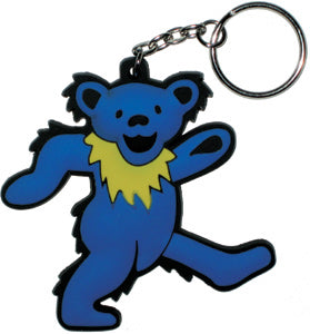 Grateful Dead - Dancing Bear Rubber - Keychain
