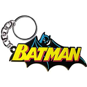 Batman - Cape Logo Rubber - Keychain