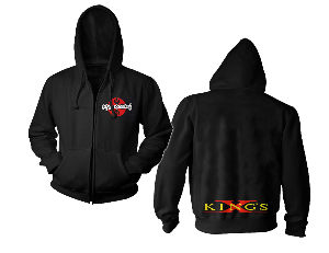 King's X - Pocket Print Zip Hoodie