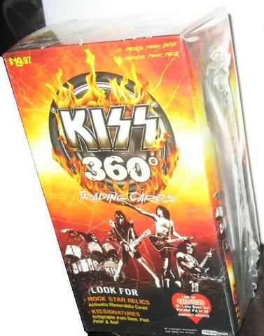 KISS - Trading Cards - Unopened Sealed Box - 12 PACKS 360 Degrees
