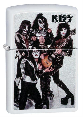 KISS - White Matte - Flip Top - Zippo Lighter