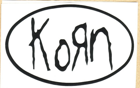 Korn - Sticker - Classic Logo - Rub On Black