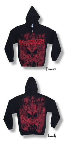 Killswitch Engage - Splatter Skull A/O Print Zip Up Hoodie