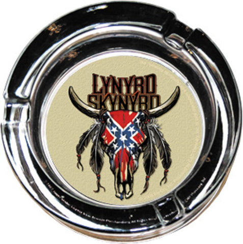 Lynyrd Skynyrd - Ash Tray / Incense Burner - Glass-Cow Skull Logo