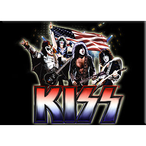 KISS - Logo Band Flag Fridge Magnet