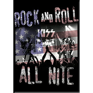 KISS - Rock & Roll All Night Fridge Magnet