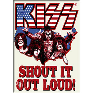 KISS - Logo Band America Fridge Magnet