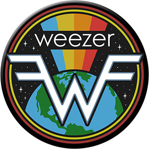 Weezer - Logo With Earth - Magnet