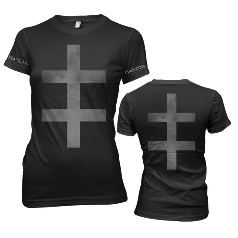 Marilyn Manson - Cross Ladies Girly Tee