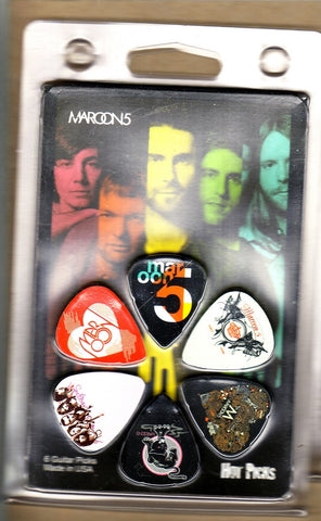 Maroon 5 - Guitar Pick Set - Band Design