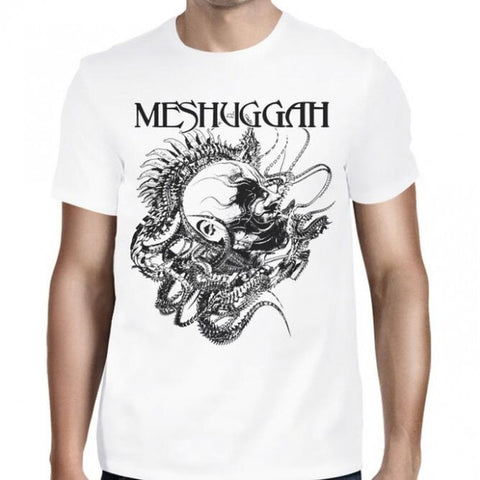 Meshuggah - White Spine Head T-Shirt
