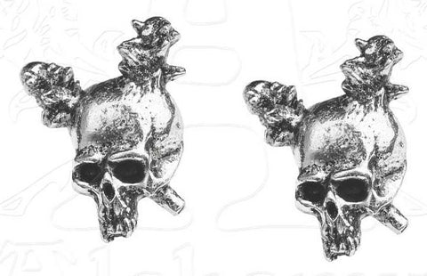 Metallica - Ear Rings - Stud - Damage Skull - (UK Import)