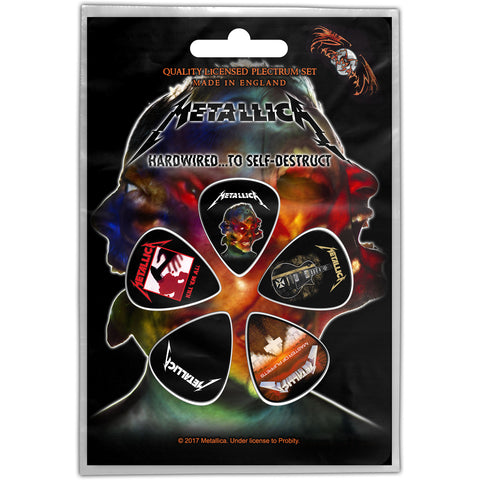 Metallica - Guitar Pick Set - 5 Picks-Cover Art-UK Import - Licensed New In Pack