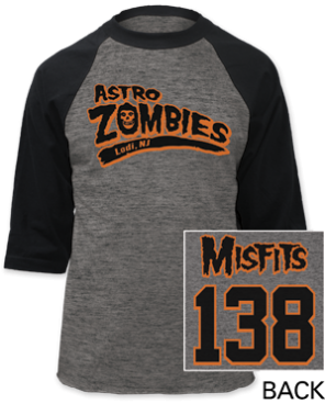 Misifts - Astro Zombies Baseball Jersey Tee