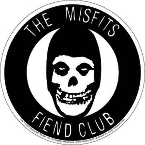 Misfits - Sticker - The Misfits Fiend Club - Licensed New