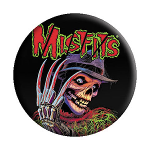 Misfits - Nightmare On Fiend Street Pinback Style Button (Pack Of 2)