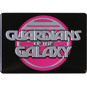 Guardians Of The Galaxy - Retro Logo Silver Magnet
