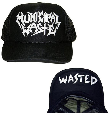 Municipal Waste - Logo Wasted Trucker Hat