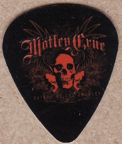 Motley Crue - Guitar Pick - Red LA Skull Artwork *Pack Of 2*