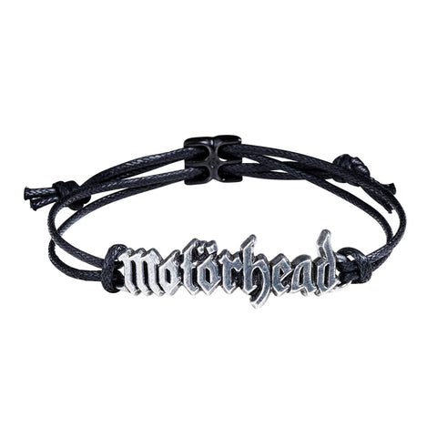 Motorhead - Pewter Leather Logo Bracelet Wristband (UK Import)