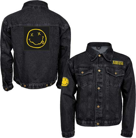 Nirvana - Smile Patches Denim Jacket