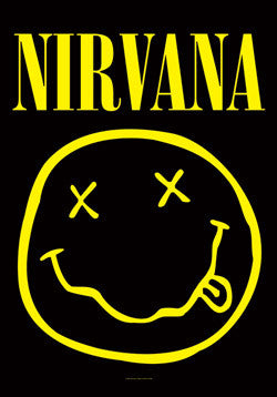 Nirvana - Smile Poster Flag