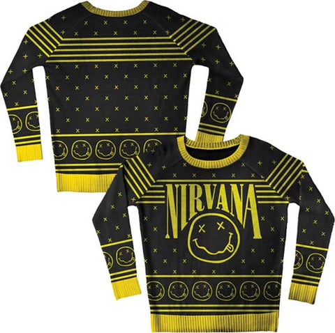 Nirvana - Smiley Pattern Sweater