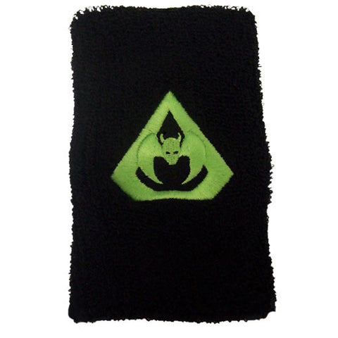 "Overkill - Green Bat Double Length 7"" Cloth Wristband"