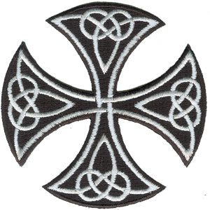 Celtic Art Round Celtic Cross - Iron On Patch