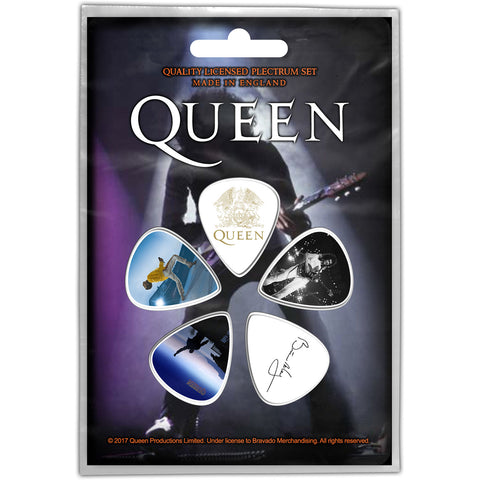 Queen - Guitar Pick Set - 5 Picks-Brian May-UK Import - Licensed New In Pack