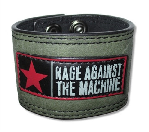 Rage Against The Machine - Leather Wristband