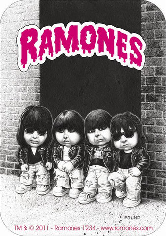 Ramones - Sticker - Garbage Pail Kids - Logo
