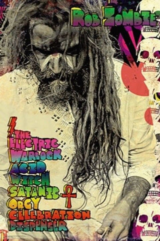 Rob Zombie - Poster - Electric Warlock - 22x34 - Licensed New In Plastic Rolled
