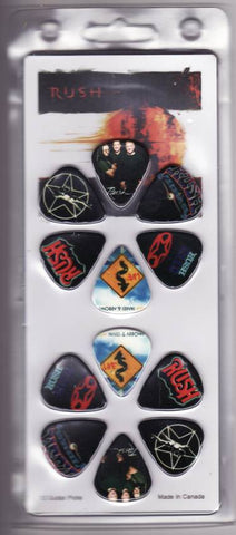 Rush - Guitar Pick Set- 12 Picks - Starman 2112 Design- Licensed New in Pack