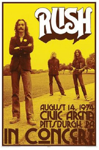 Rush - Poster - In Concert
