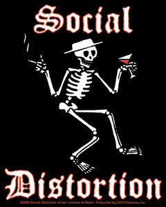 Social Distortion - Skeleton Sticker