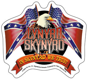 Lynyrd Skynyrd - Flags & Eagle - Sticker