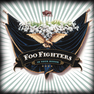 Foo Fighters - Eagle And Flags - Sticker