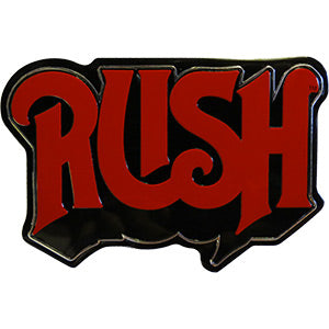 Rush - Logo Metal Emblem Sticker