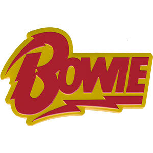 David Bowie - Bolt Logo Enamel Lapel Pin Badge