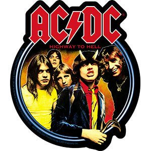AC/DC - Highway To Hell Circle - Sticker
