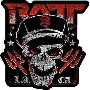 RATT - Logo With Skull - Sticker